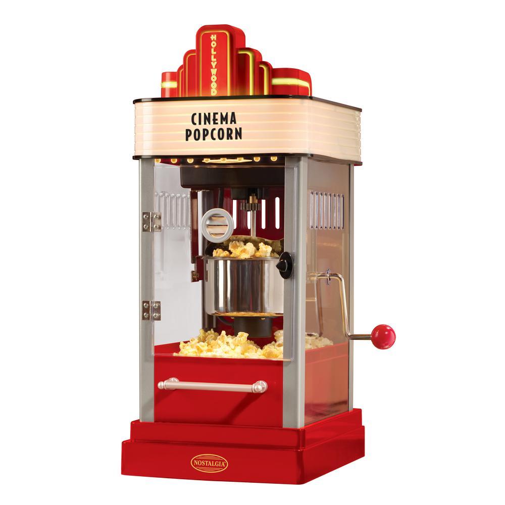 Nostalgia Hollywood Kettle Popcorn Maker
