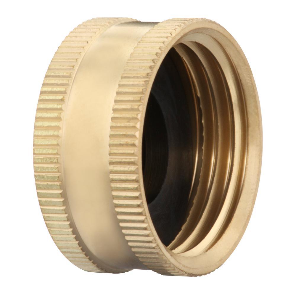 Everbilt 3 4 In Fht Brass Cap Fitting 801719 The Home Depot
