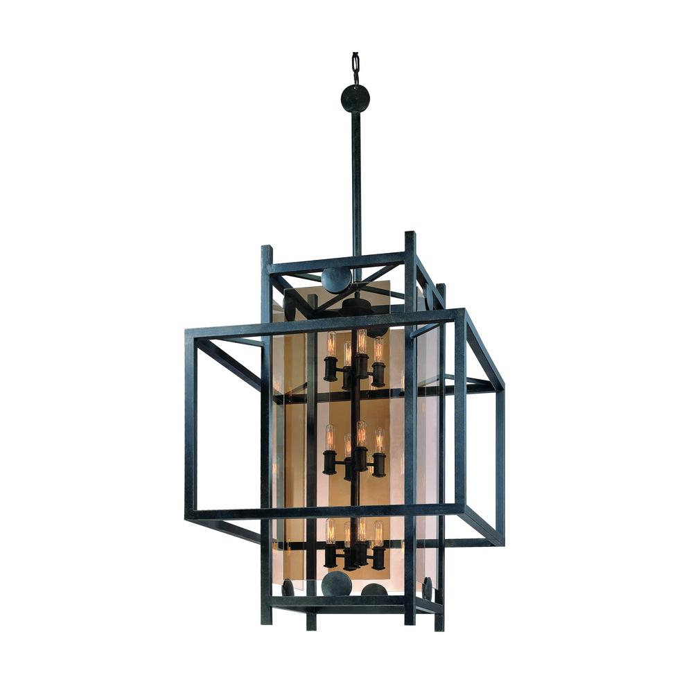 Crosby 12-Light French Iron Pendant