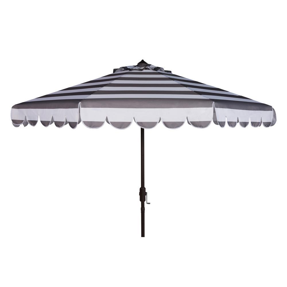 Maui 9 ft. Aluminum Market Tilt Patio Umbrella in Grey/White