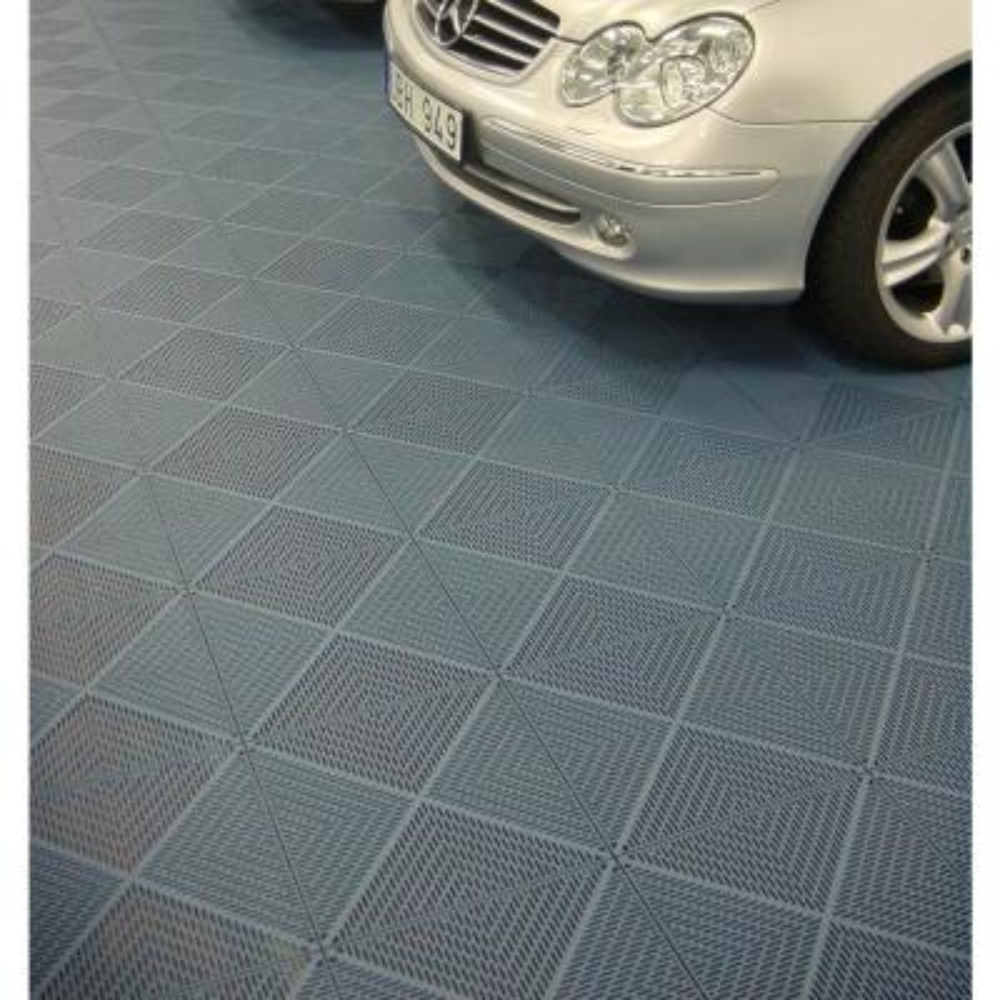 Unique 14.9 in. x 14.9 in. Graphite Polypropylene Garage Floor Tile (54 sq. ft. / case)