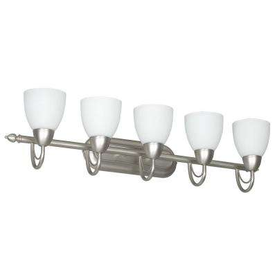 Fiscus 5-Light Satin Nickel Bath Vanity Light