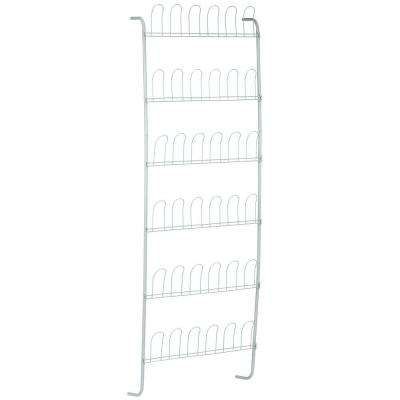 Over-the-Door 18-Pair Shoe Rack in White