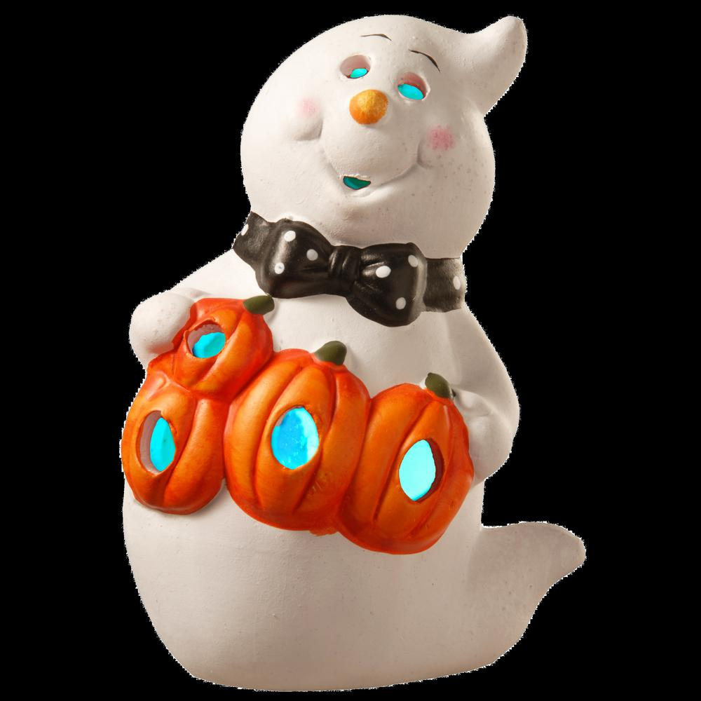 National Tree Company 6 in. Lighted Ghost Halloween Decor