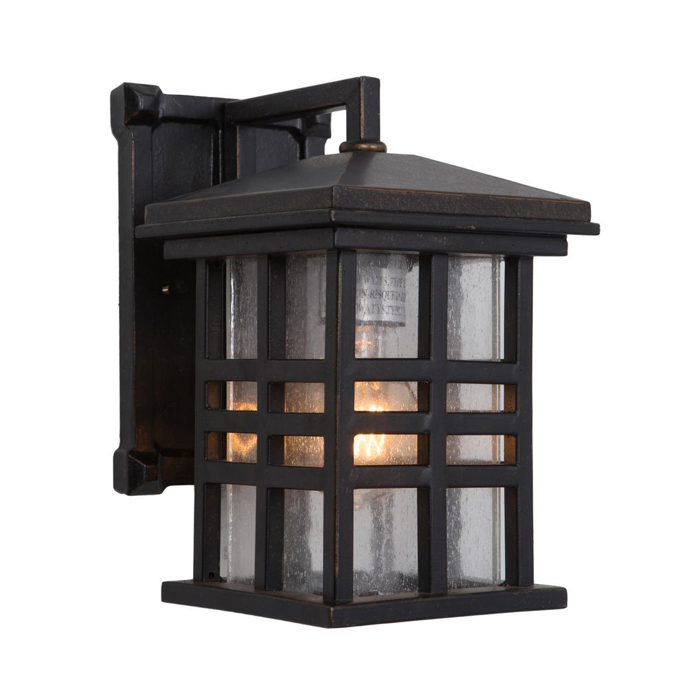 Yosemite Home Decor Chamise Collection 1 Light Oil Rubbed Bronze Outdoor Wall Lantern Sconce
