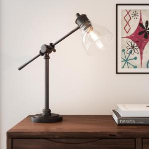 18.25 in. Oil Rubbed Bronze Counter Balance Desk Lamp