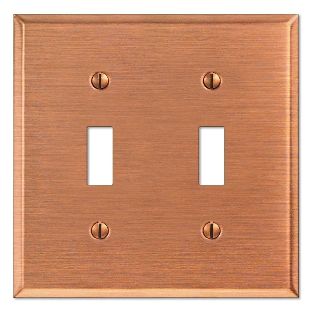 Creative Accents Steel 2 Toggle Wall Plate - Antique Copper