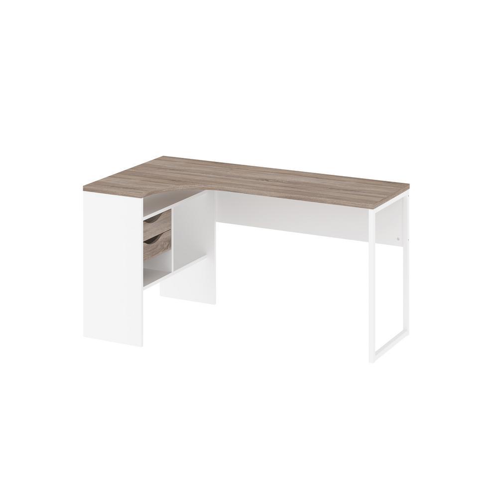 Wayland White/Truffle 2-Drawer Desk-8011849cj