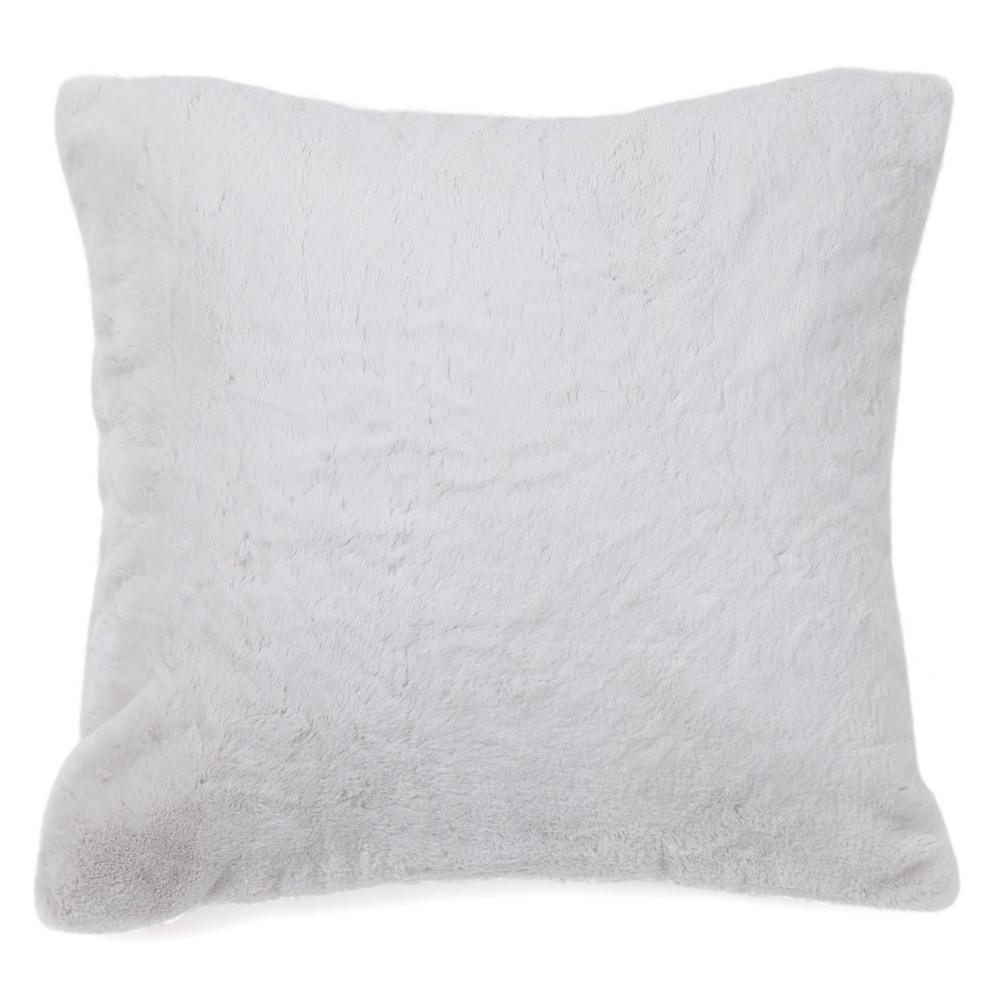 Grey Luxe Fur Pillow