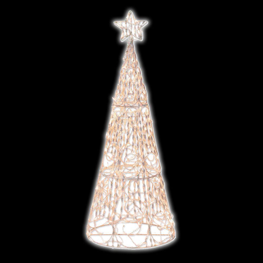 Brite Star 5 ft. 3D Cone Tree Sculpture by Brite Star
