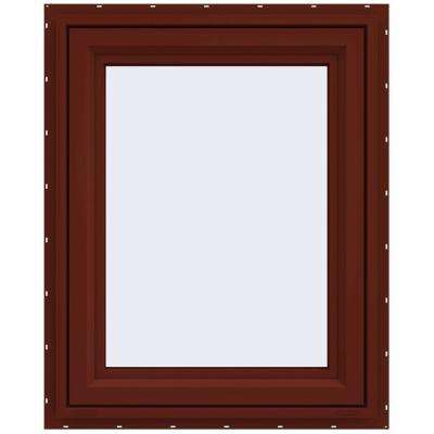 29.5 in. x 35.5 in. V-4500 Series Right-Hand Casement Vinyl Window - Red