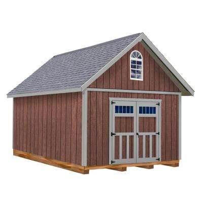 Springfield 12 ft. x 16 ft. Wood Storage Shed Kit with Floor