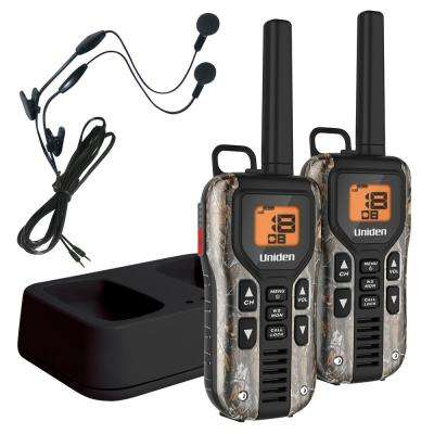 40-Mile GMRS/FRS Radio w/121 Privacy Codes Weather Alert Headsets - Camo (Realtree Xtra)