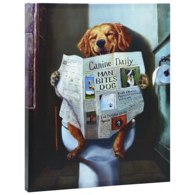 "Dog Gone Funny"" Graphic Art Print on Wrapped Canvas Dog Wall Art"