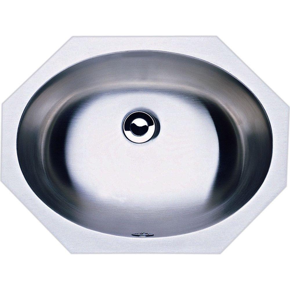 Blanco Devon Self-Rimming Bathroom Sink in Stainless Steel-DISCONTINUED