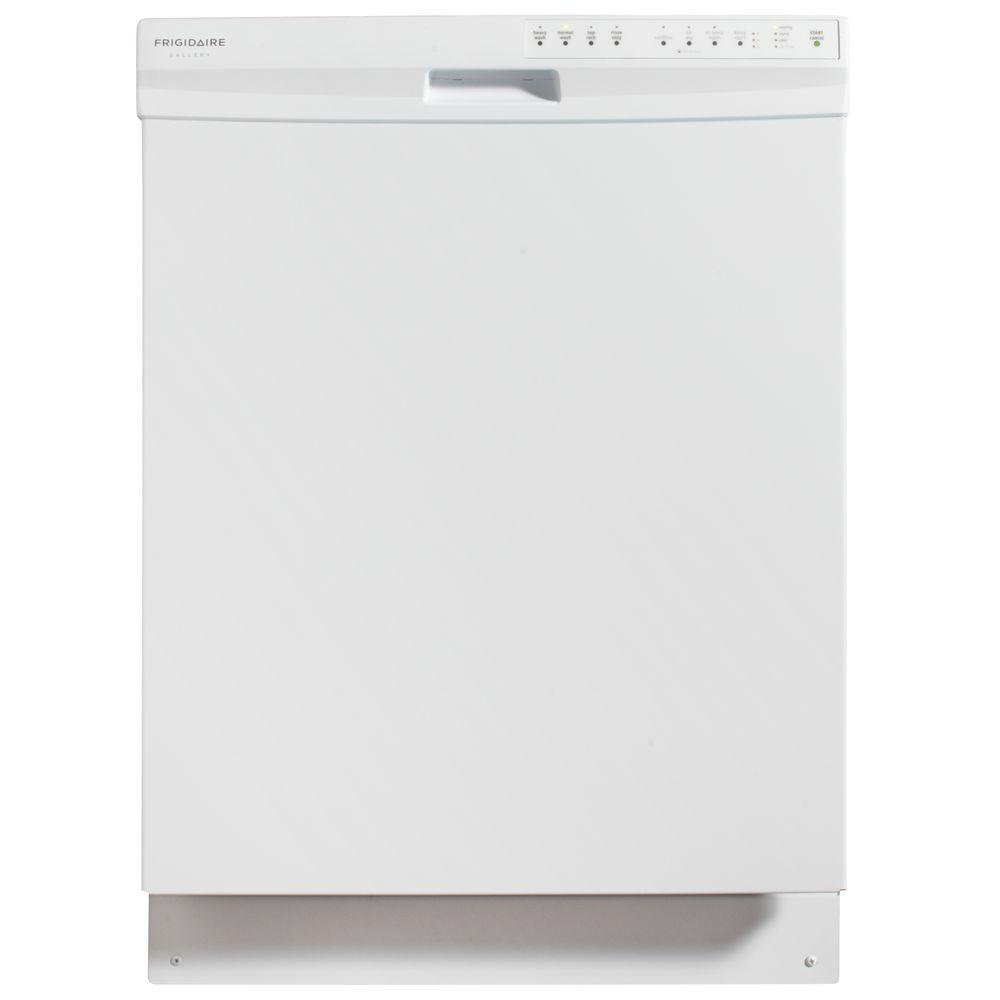 Frigidaire Gallery Built-In Front Control Dishwasher with OrbitClean Spray Arm in White