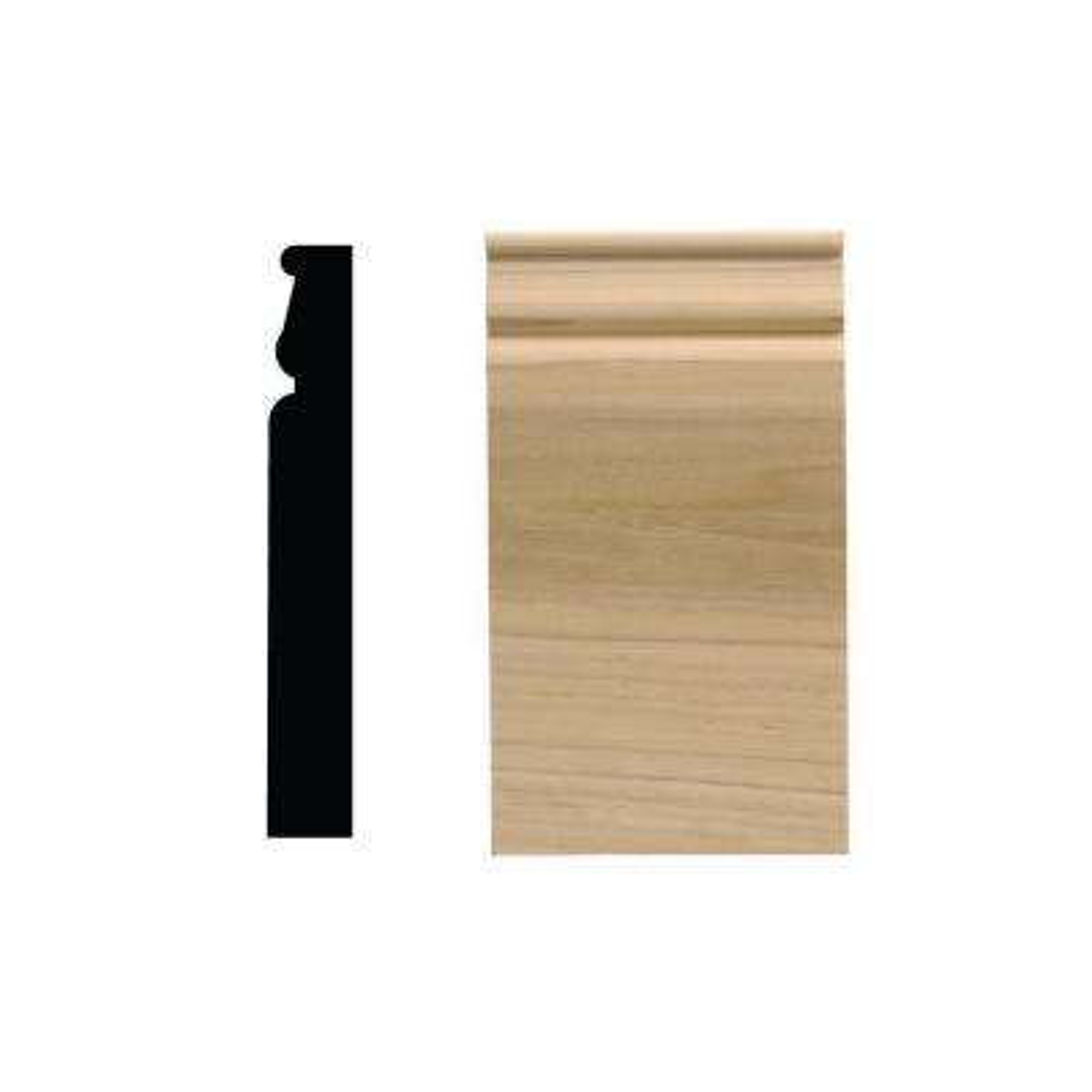 1012PB 13/16 in. x 2-3/4 in. x 5-3/4 in. White Hardwood Plinth Block Moulding
