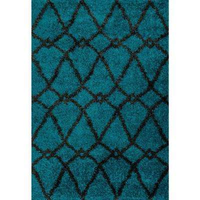 Cosma Lifestyle Collection Blue/Charcoal 5 ft. 2 in. x 7 ft. 7 in. Area Rug