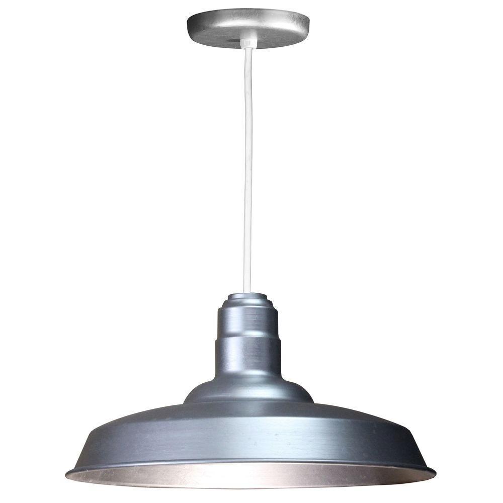 1 Light Ceiling Galvanized Pendant