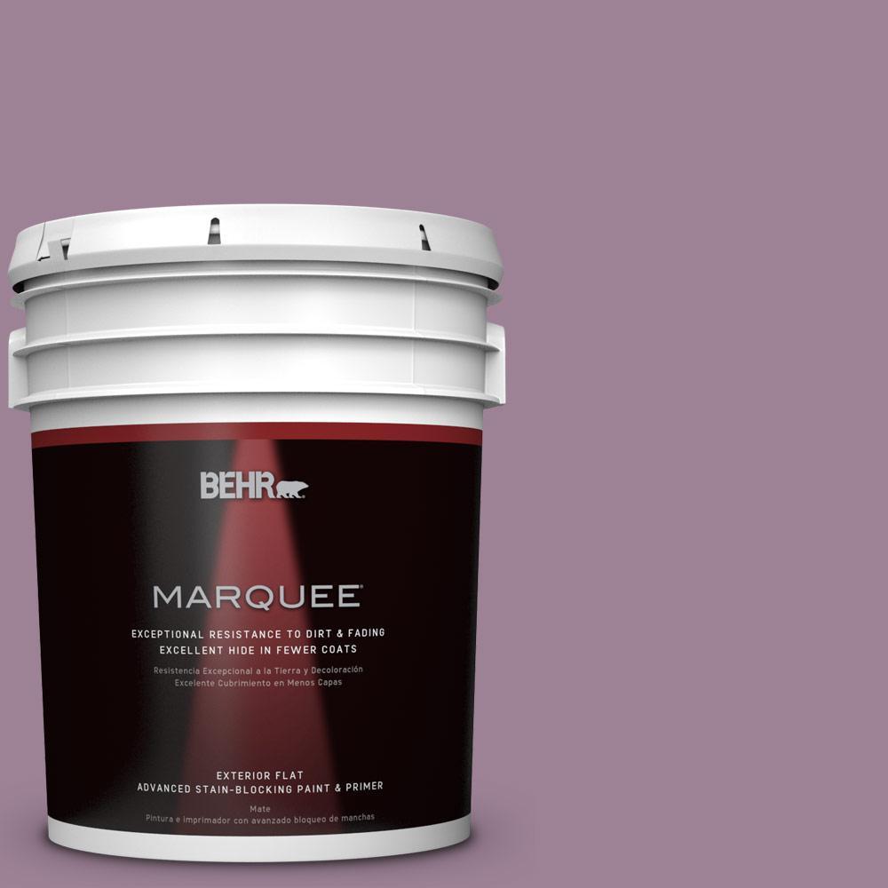 Behr Marquee 5 Gal S110 5 Garden Plum Flat Exterior Paint 445405 The Home Depot