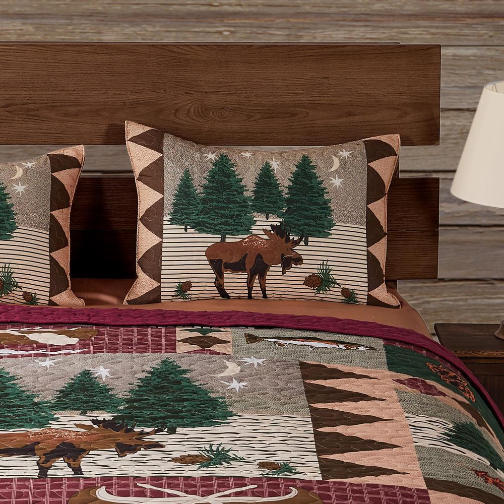 Moose Lodge 3-Piece Multicolo Quilt Set