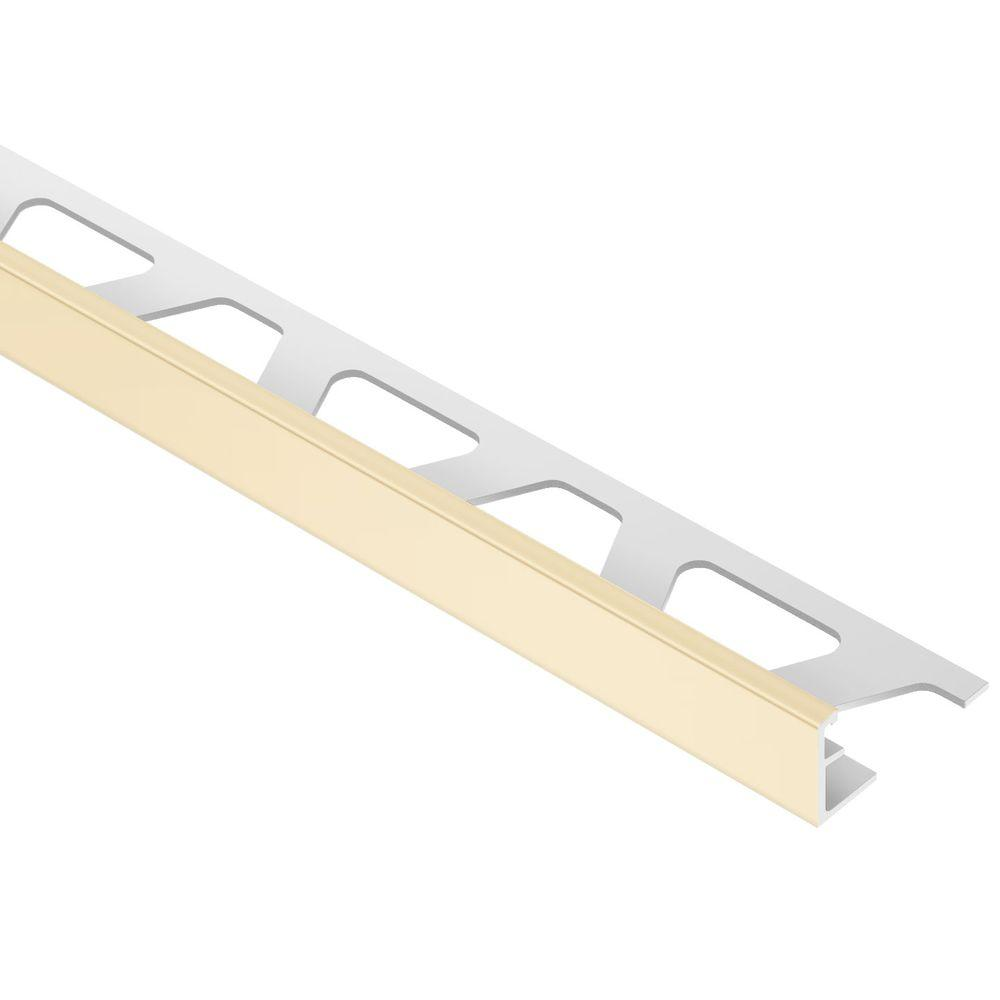 Schluter Jolly Sand Pebble 3/8 in. x 8 ft. 2-1/2 in. PVC L-Angle Tile Edging Trim