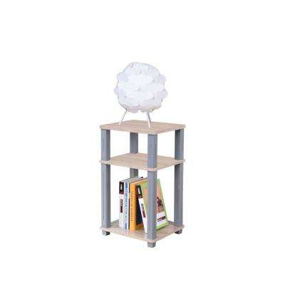 College Collection Natural and Gray Side Table