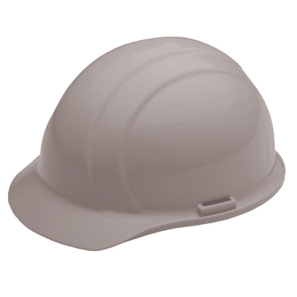 4 Point Plastic Suspension Mega Ratchet Cap Hard Hat in Gray