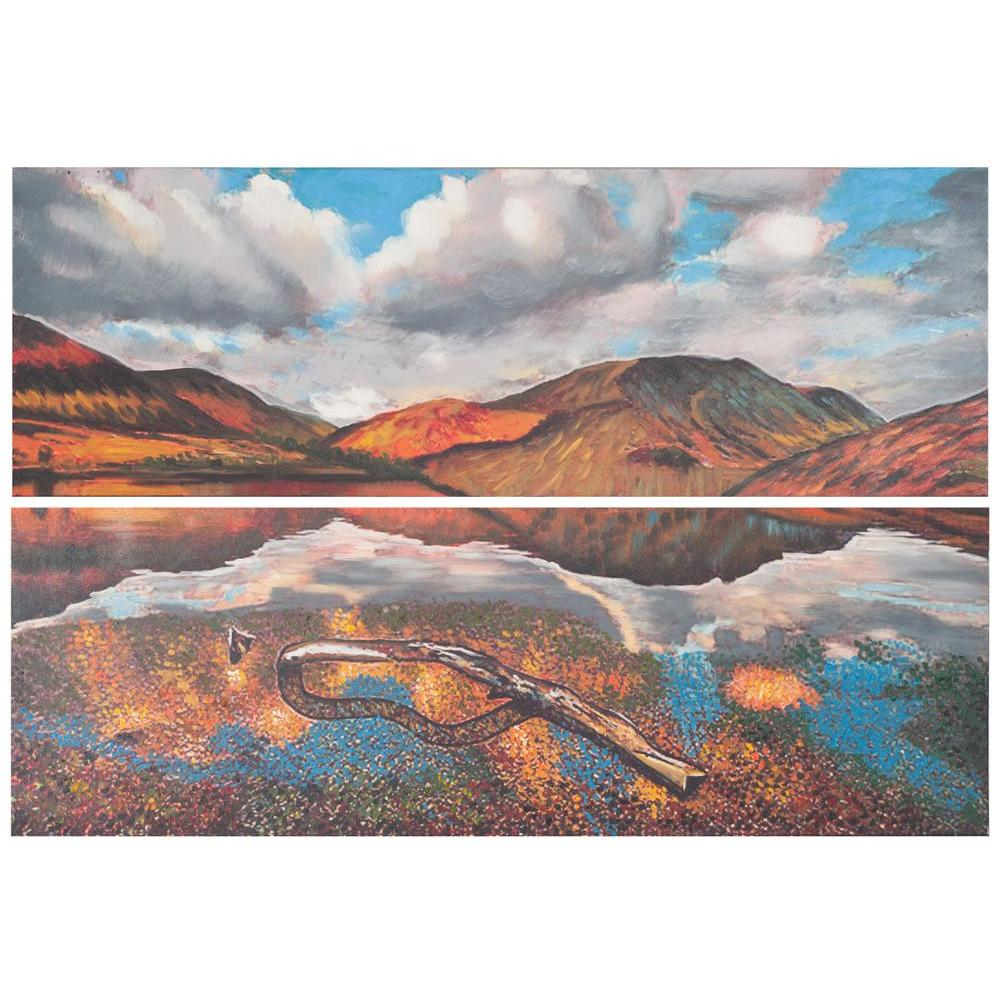 Assorted Painted Desert Diptych  Wall Art  sc 1 st  Home Depot & Safavieh 48 in. x 16 in.