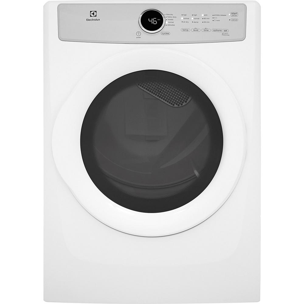 Electrolux 8.0 cu. ft. Gas Dryer in White, Energy Star