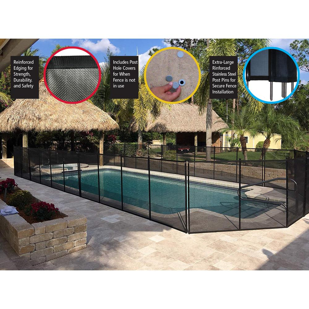 Waterwarden In Ground Pool Fence Wwf300 The Home Depot