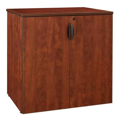 Legacy 35 in. Cherry Stackable Storage Cabinet