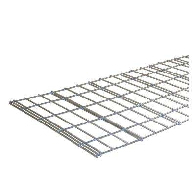 48 in. L x 24 in. D Individual Silver Steel Wire Mesh Decking