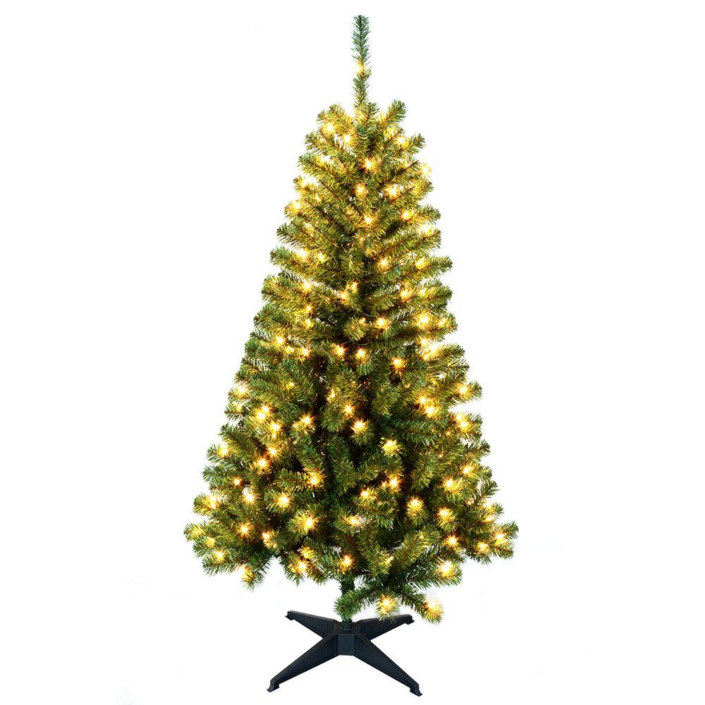 HomeAccentsHoliday Home Accents Holiday 5 ft. Wood Trail Pine Artificial Christmas Tree with 200 Clear Lights