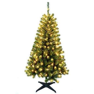 5 ft. Wood Trail Pine Artificial Christmas Tree with 200 Clear Lights