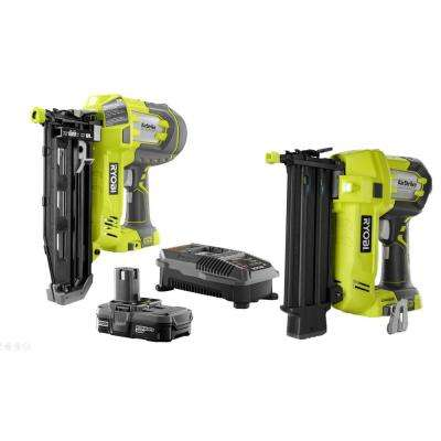 18-Volt ONE+ Lithium-Ion Cordless AirStrike 16-Gauge 2-1/2 in Straight Finish Nailer Kit