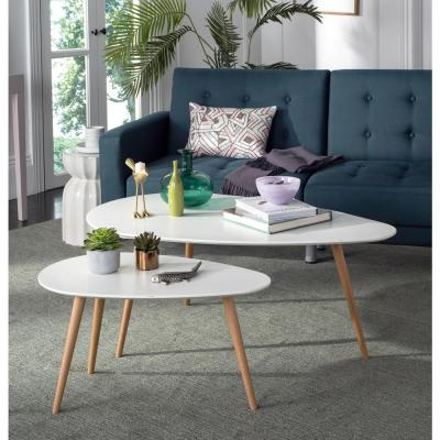 Saffron Spilt White Coffee Table