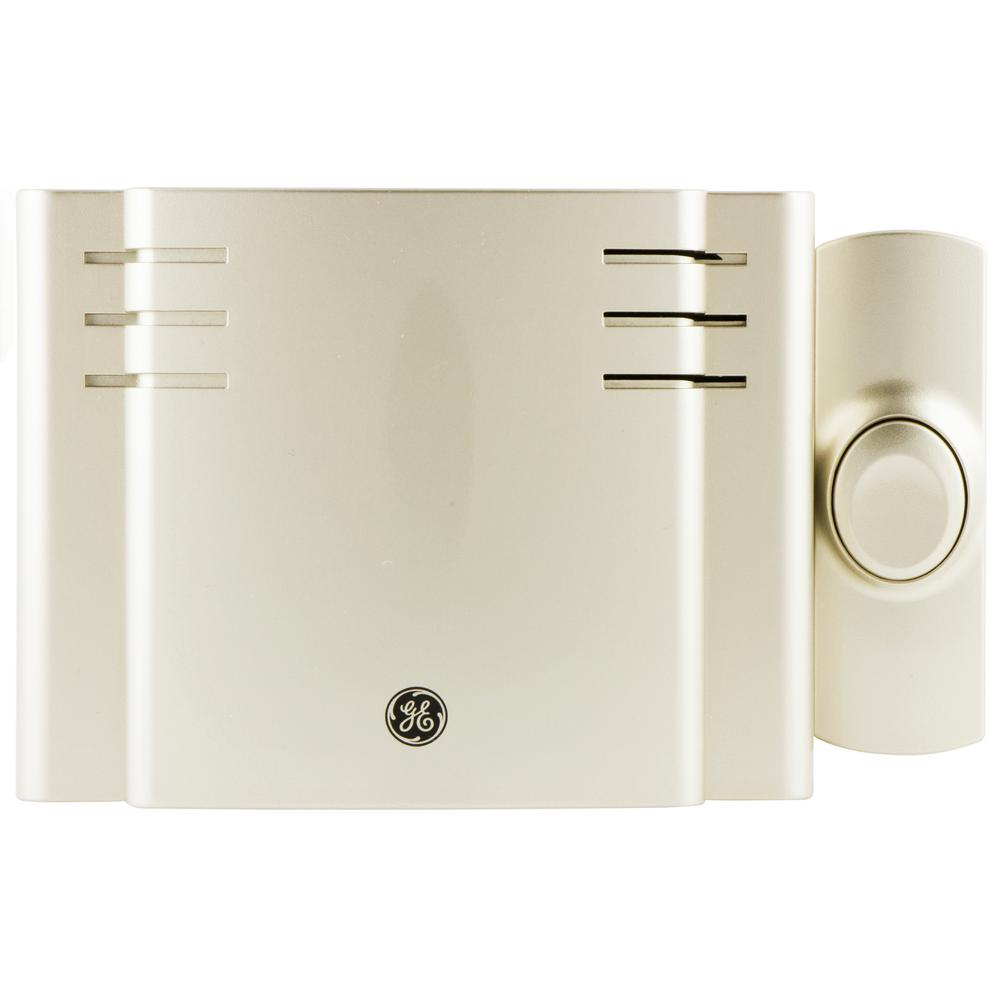 GE Wireless Door Chime With 8 Sounds Nickel 19303 The