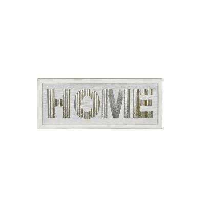 Home White Rustic Wood Sign