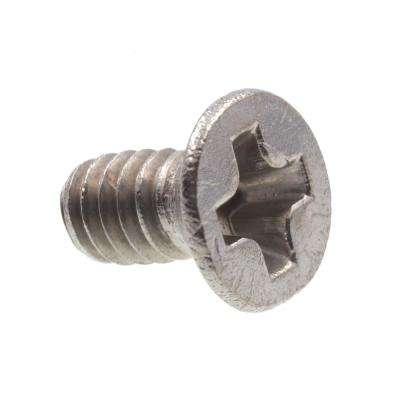 M2-0.4 x 4 mm Grade A2-70 Metric Stainless Steel Phillips Drive Flat Head Machine Screws (10-Pack)