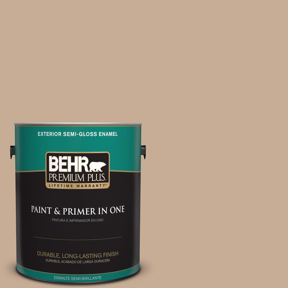 1-gal. #280E-3 Toasted Wheat Semi-Gloss Enamel Exterior Paint