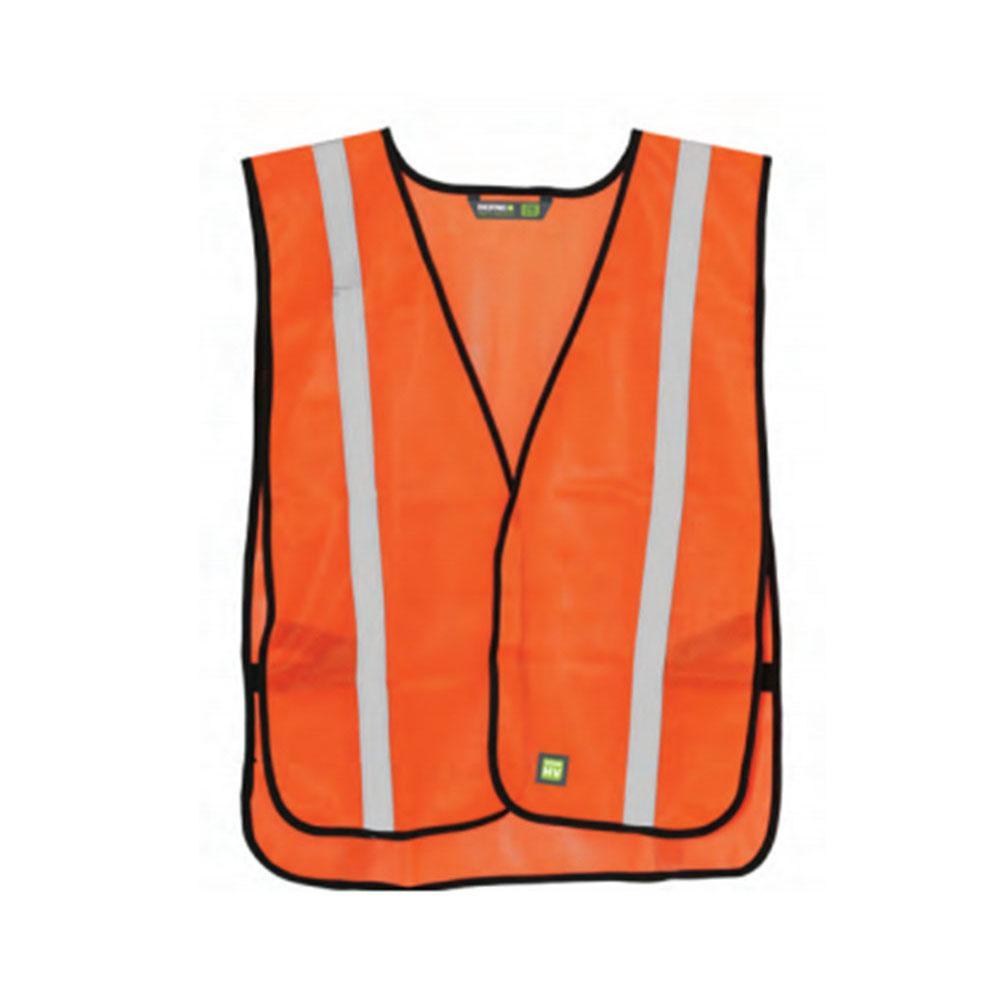 Men's Large Orange Polyester Mesh Lightweight Economy Vest (3-Pack)