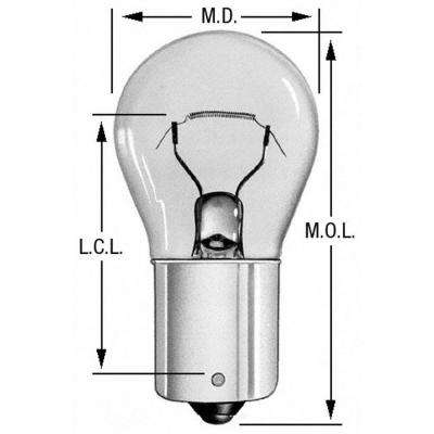 Rear Engine Compartment Light Bulb fits 1958-1995 Pontiac Laurentian,Strato-Chief Parisienne Acadian