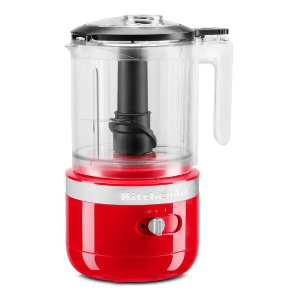Cordless 5-Cup Passion Red Food Chopper