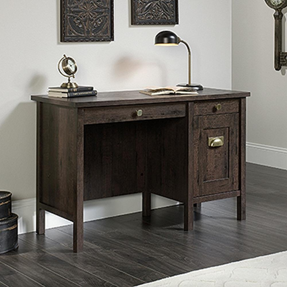 SAUDER New Grange Coffee Oak Desk With Drawers-419128