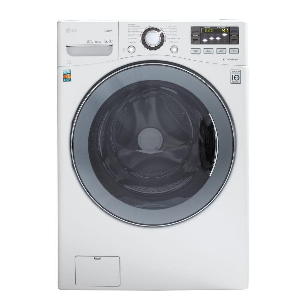 LG Electronics 4.0 DOE cu. ft. High-Efficiency Front Load Washer in White, ENERGY STAR-DISCONTINUED