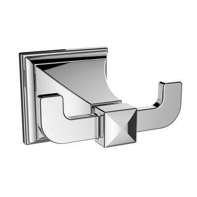 Rainier Double Robe Hook in Polished Chrome