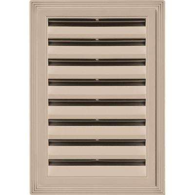 12 in. x 18 in. Rectangle Gable Vent #023 Wicker