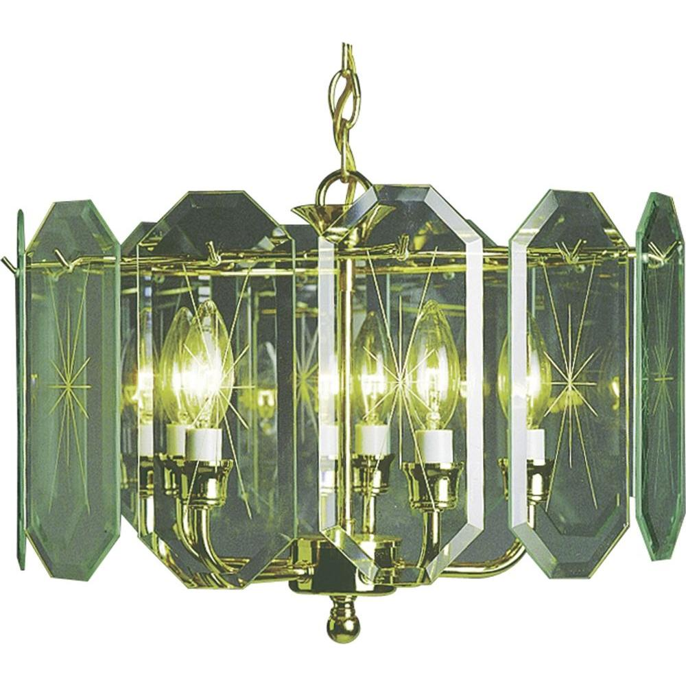 Volume lighting chandeliers lighting the home depot 5 light polished brass interior chandelier aloadofball Choice Image
