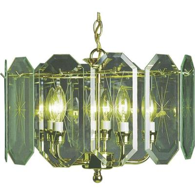 5-Light Polished Brass Interior Chandelier